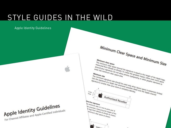 STYLE GUIDES IN THE WILD Apple Identity Guidelines