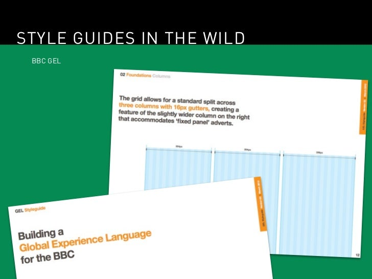 STYLE GUIDES IN THE WILD BBC GEL