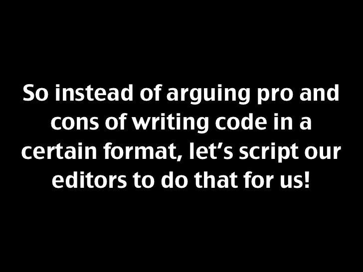 Scripting Maintainability