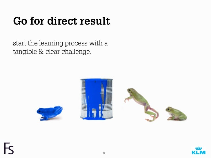 Go for direct resultstart the learning process with atangible & clear challenge.                               15