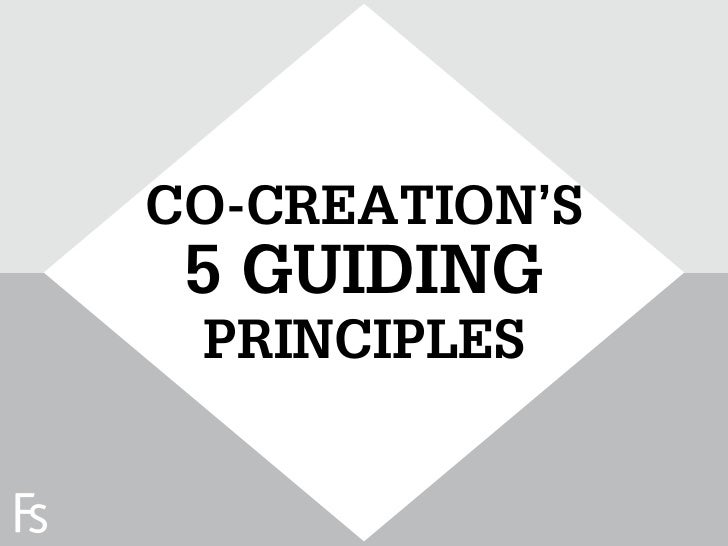 CO-CREATION'S                      5 GUIDING                      PRINCIPLESFRONTEERSTRATEGYINNOVATION.CO-CREATION.BRAND D...