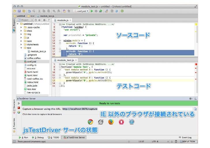 任意スクリプトも実行可能• ファイルの変更検知が行われた時、   任意のスクリプトを実行可能• 例えば – テストランナーの実行 – 自動コミット – Sphinx ドキュメントのビルド 等々