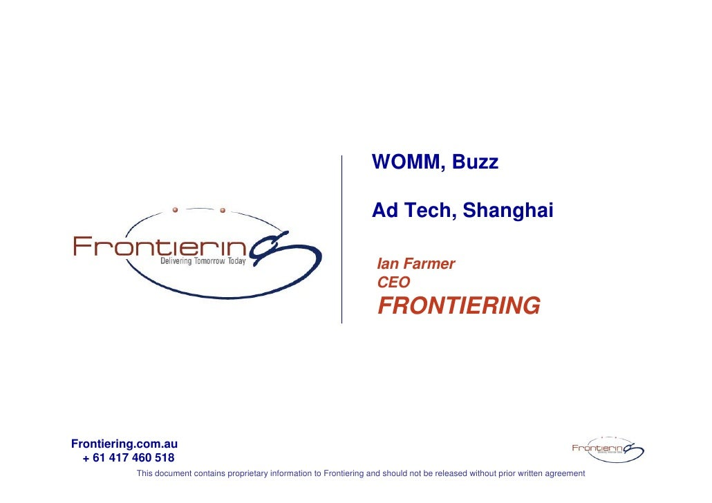 WOMM, Buzz                                                                           Ad Tech, Shanghai                    ...