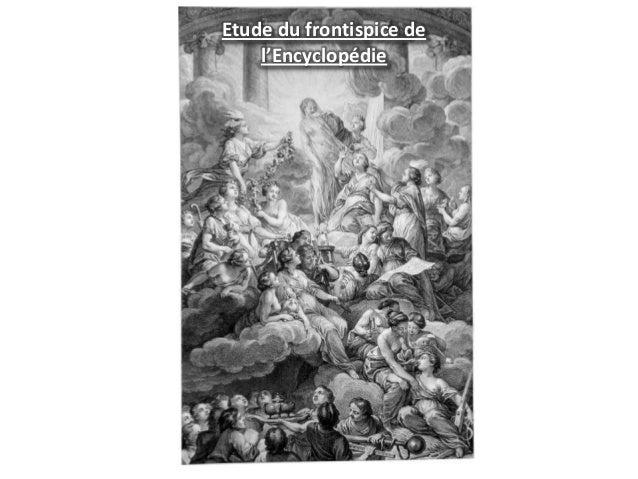 Etude du frontispice de l'Encyclopédie