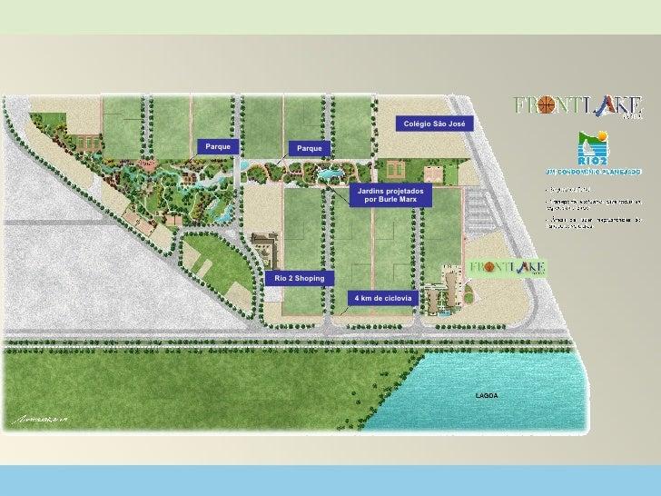 Rio 2 Shoping Parque 4 km de ciclovia Colégio São José Jardins projetados por Burle Marx Parque