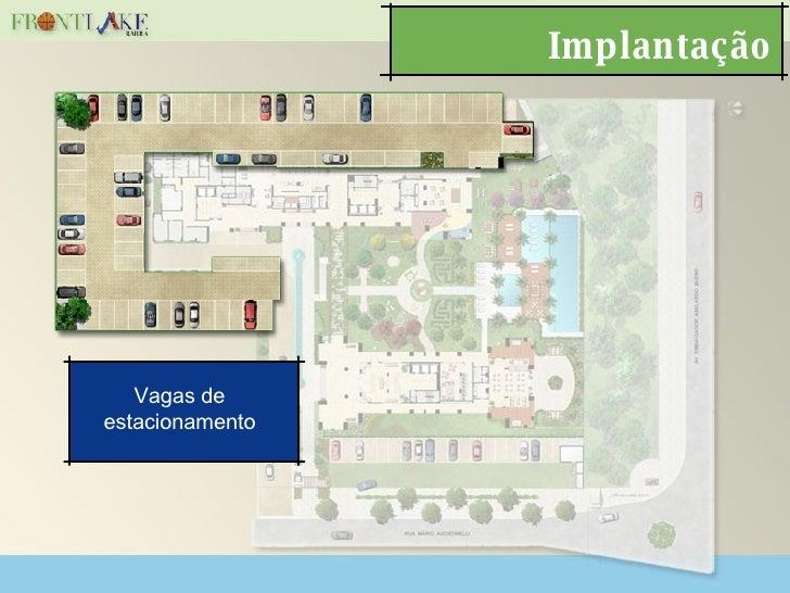 Implantação Vagas de estacionamento