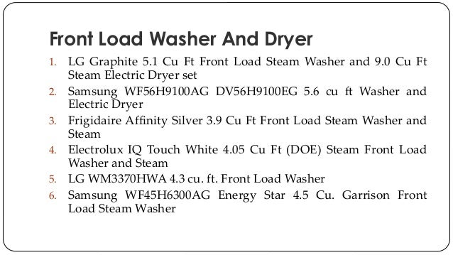 Difference Between Front Load And Top Load Washing Machine >> Front Load Washer And Dryer