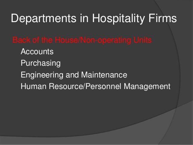 Interrelationship Of Housekeeping And Room Service