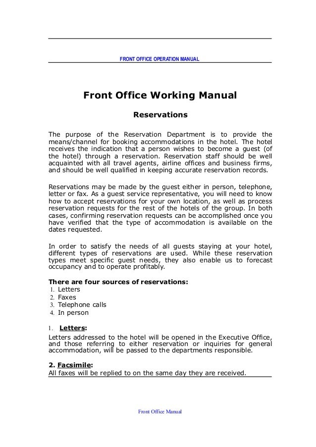 Hotel front desk operations manual youtube.
