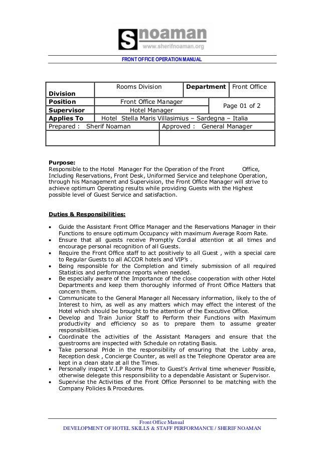 front office dept job rh slideshare net User Manual PDF User Manual PDF