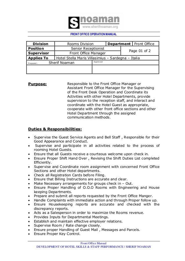 reception desk procedure manual rh emailcanvas com br Front Office Procedures Manual Administrative Assistant Office Procedures Manual