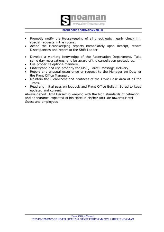 housekeeping policies and procedures manual