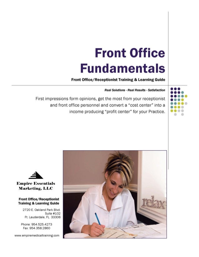 Front Office Fundamentals for the Aesthetic Practice