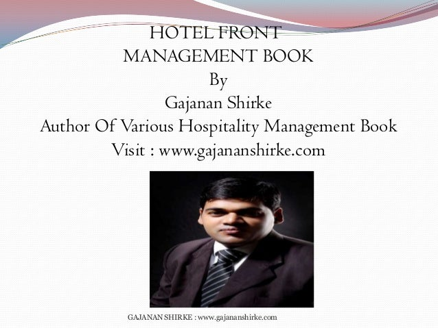 front office management paper Front office role expectations as defined by hotel management and by front office personnel a comparative study by mark d scott a thesis/project submitted to the.