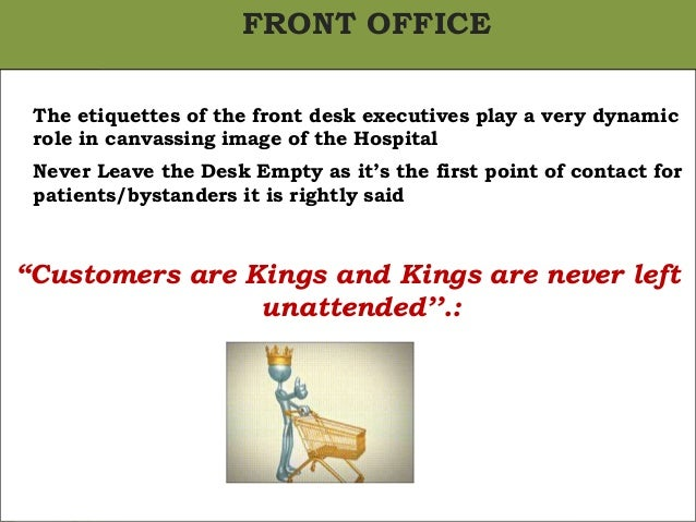 Front office mgt in hospital - Back office roles and responsibilities ...