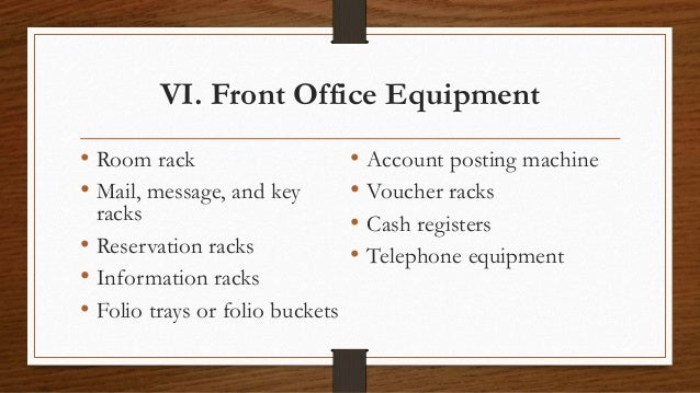 Modern office chair design - Front Office Operations