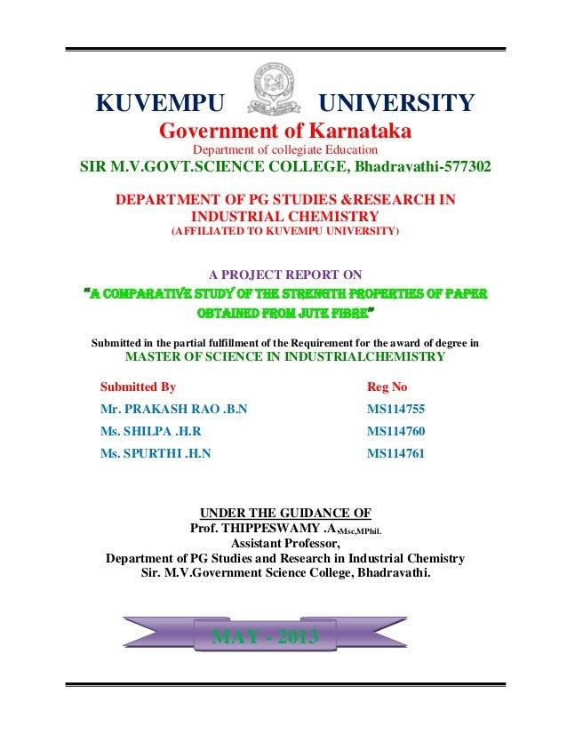KUVEMPU UNIVERSITYGovernment of KarnatakaDepartment of collegiate EducationSIR M.V.GOVT.SCIENCE COLLEGE, Bhadravathi-57730...