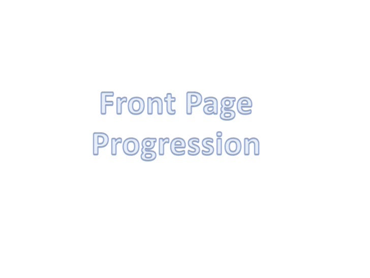 Front page progression