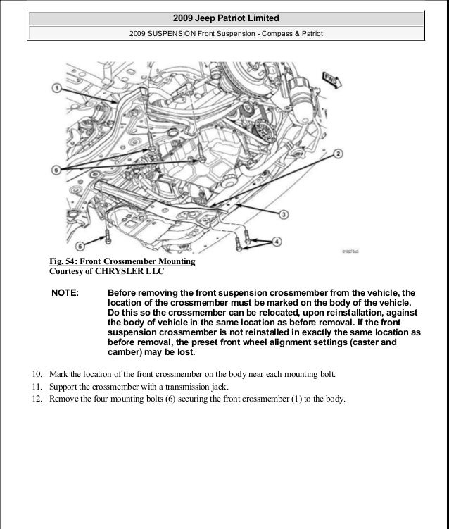 [2009 Jeep Compass Transmission Diagram For A Removal