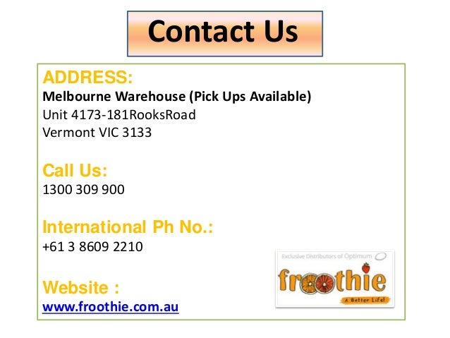 Froothie Revolutionary Home Appliances In Australia