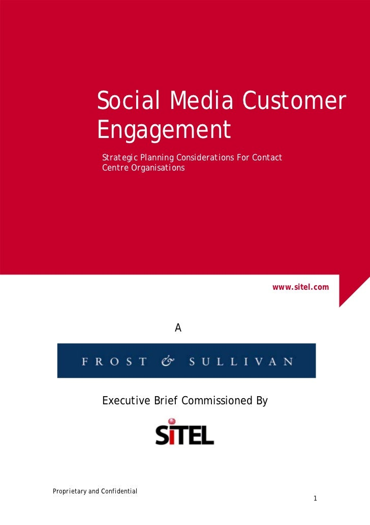 Social Media Customer              Engagement                Strategic Planning Considerations For Contact                ...