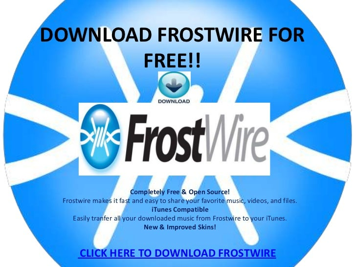 Frostwire free music downloads