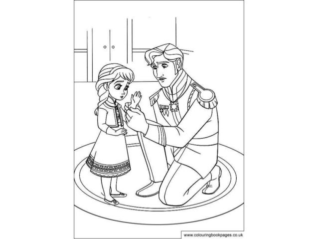 Disney Frozen Colouring Pages And Colou In Game For Kids
