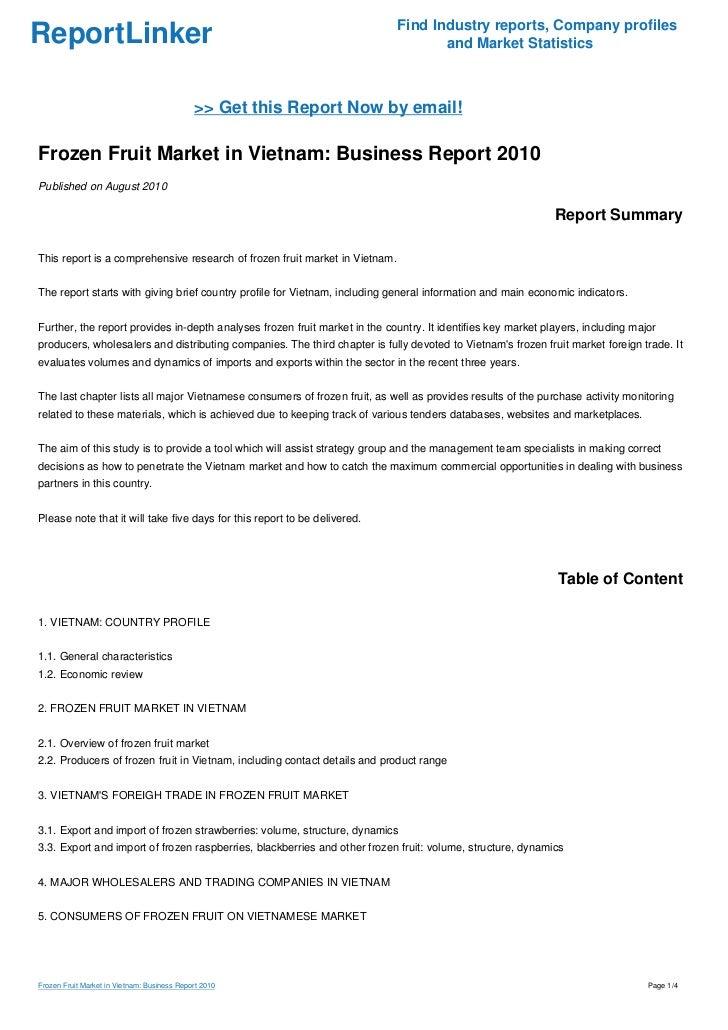 Vietnam Country Risk Report