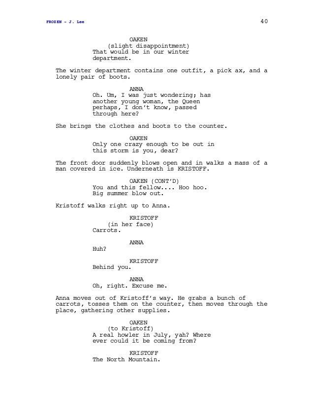 Frozen Screenplay