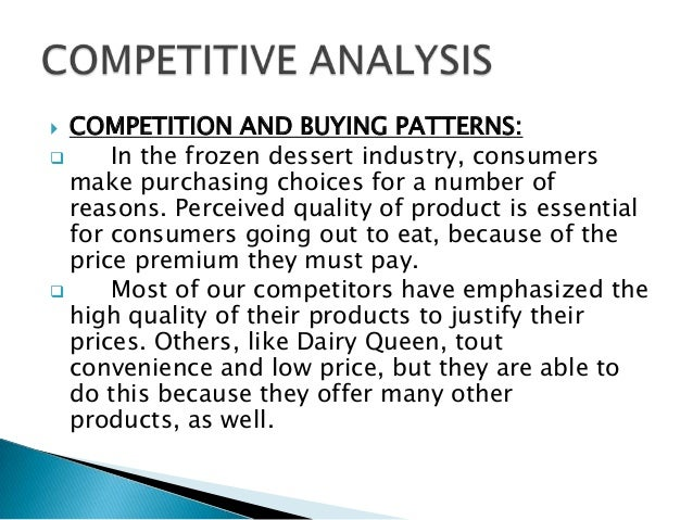 competition and buying patterns business plan sample