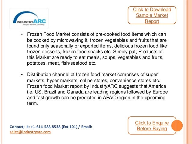Frozen Food Market Analysis and Forecast 2015-2020