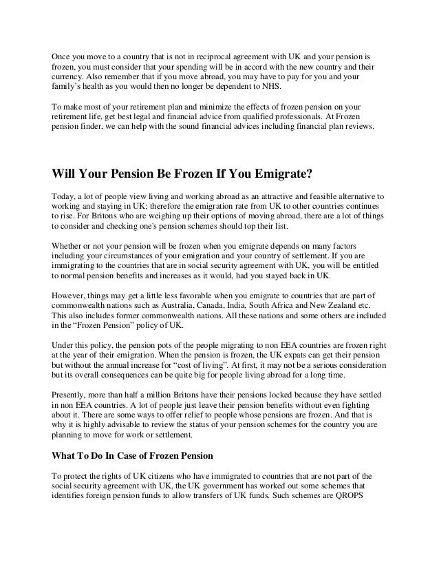 Frozen Pension 1