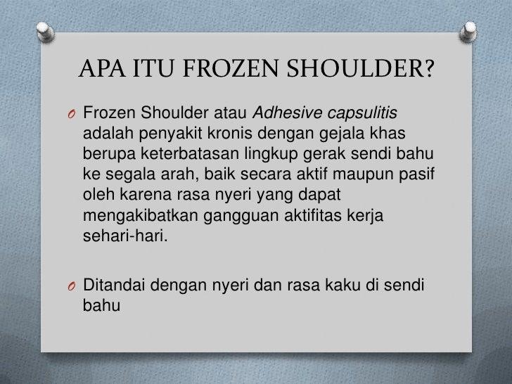 Frozen shoulder Slide 3