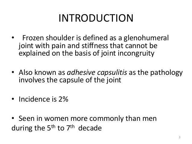 Frozen shoulder 9.6.15 Slide 3