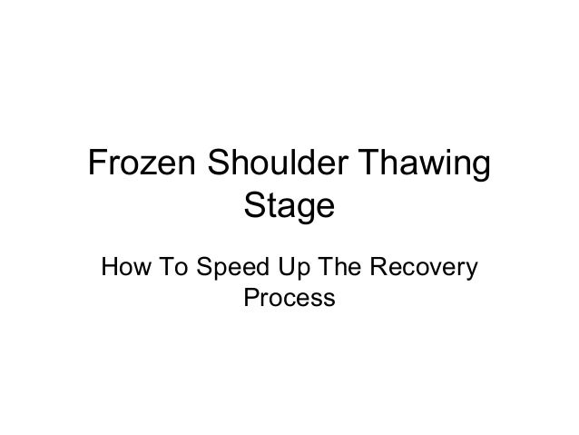 Frozen Shoulder Thawing         StageHow To Speed Up The Recovery          Process