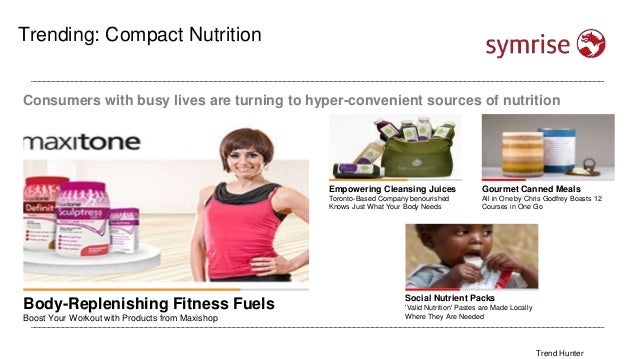Lifestyle Trending: Compact Nutrition Consumers with busy lives are turning to hyper-convenient sources of nutrition Body-...