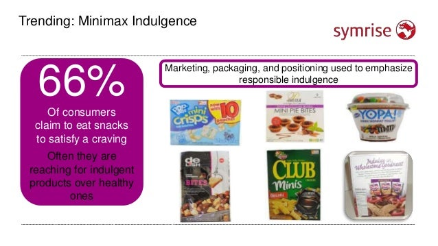 Trending: Minimax Indulgence 64%Of all consumers say they often snack between meals 44%Of consumers eat at least 1 snack w...