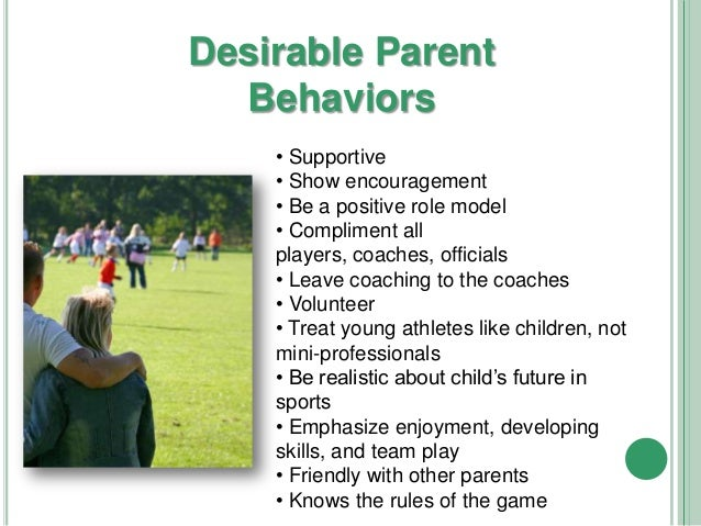 The role of parents in youth sport