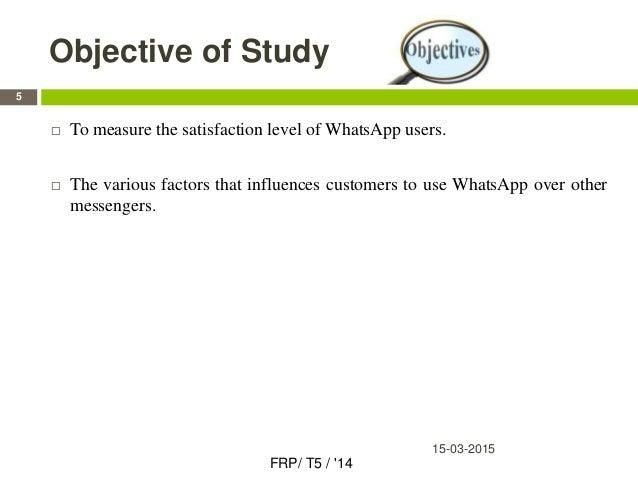 Customer Satisfaction Towards Various Features of WhatsApp ...