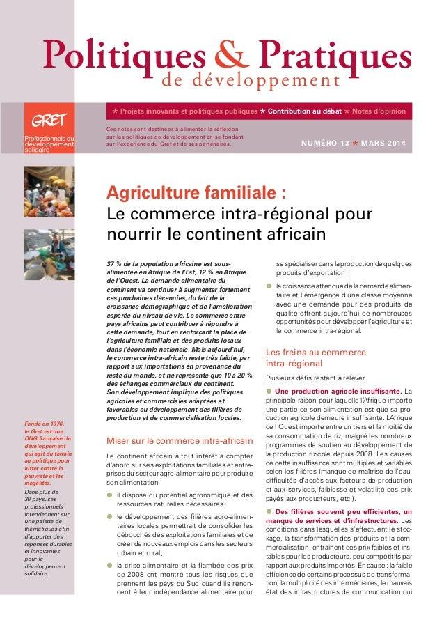 37% de la population africaine est sous- alimentée en Afrique de l'Est, 12% en Afrique de l'Ouest. La demande alimentair...