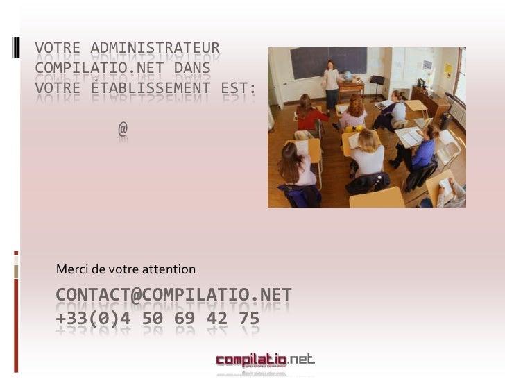 Presentation compilatio.net: Adminstrateur-Orléans