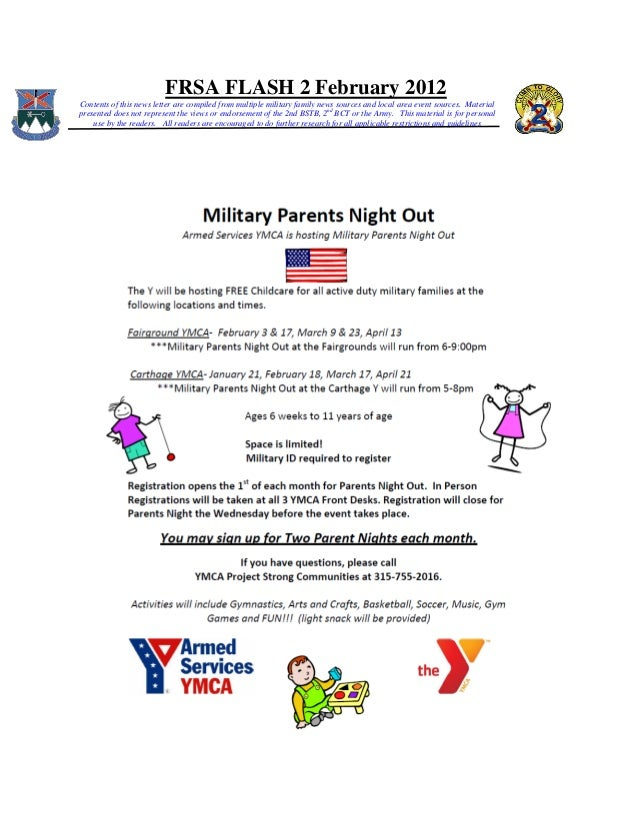 FRSA FLASH 2 February 2012 Contents of this news letter are compiled from multiple military family news sources and local ...