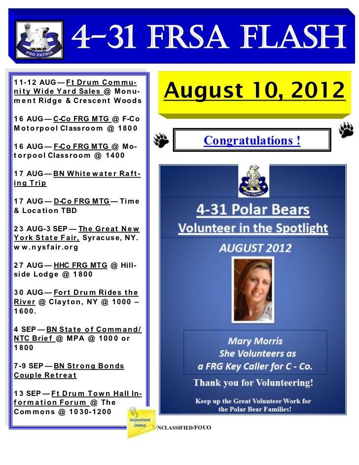 4-31 FRSA Flash                                          August 10, 20121 1-12 AUG — Ft Dr u m Co m m u-ni t y Wid e Ya r ...