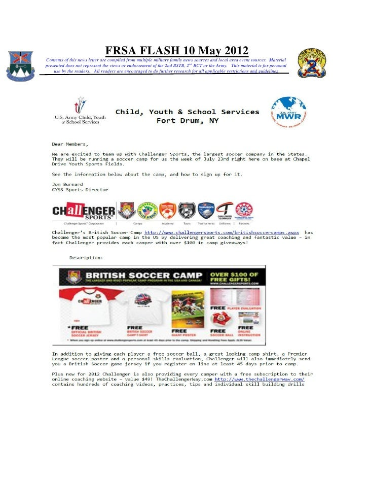 FRSA FLASH 10 May 2012Contents of this news letter are compiled from multiple military family news sources and local area ...