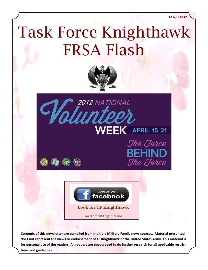 12 April 2012Task Force Knighthawk      FRSA Flash                                     Look for TF Knighthawk             ...