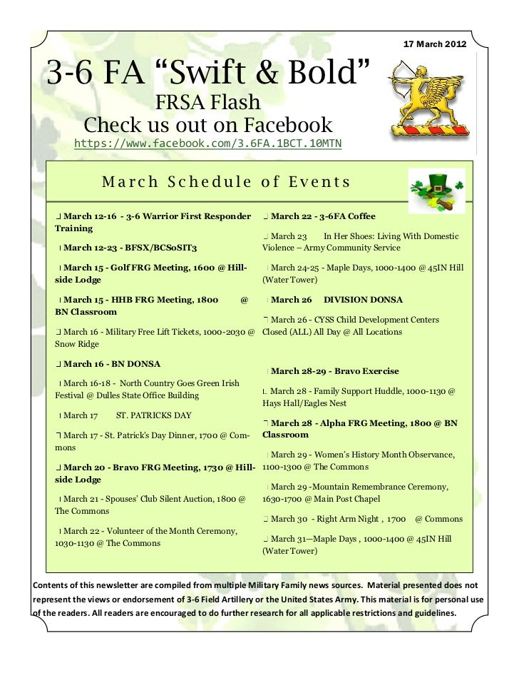 """17 March 2012   3-6 FA """"Swift & Bold""""                    FRSA Flash             Check us out on Facebook          https://..."""