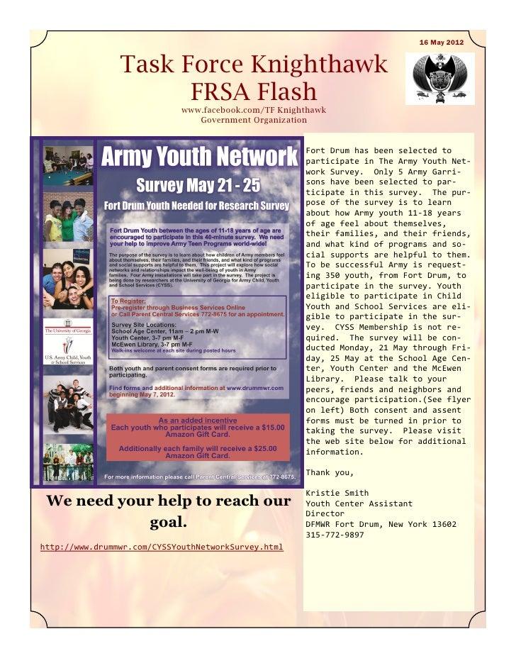 16 May 2012                Task Force Knighthawk                      FRSA Flash                             www.facebook....