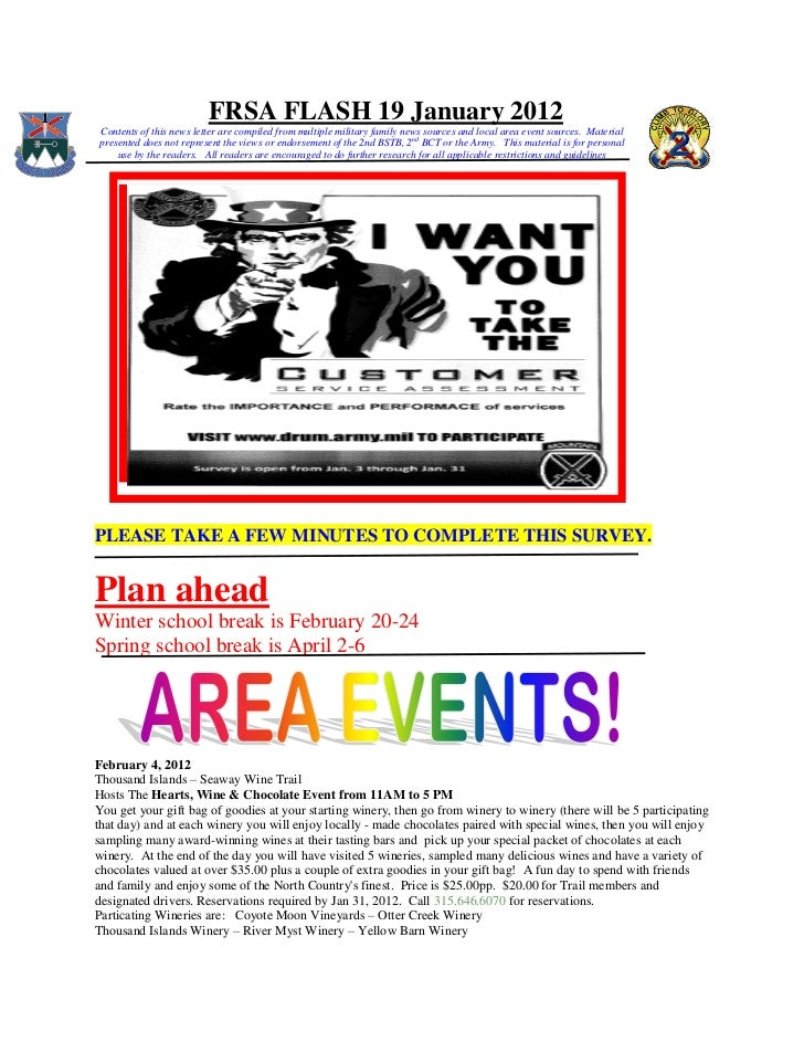 FRSA FLASH 19 January 2012Contents of this news letter are compiled from multiple military family news sources and local a...