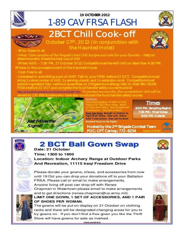 19 OC TOBER 2012                       1-89 CAV FRSA FLASH                        2BCT Chili Cook-off                     ...