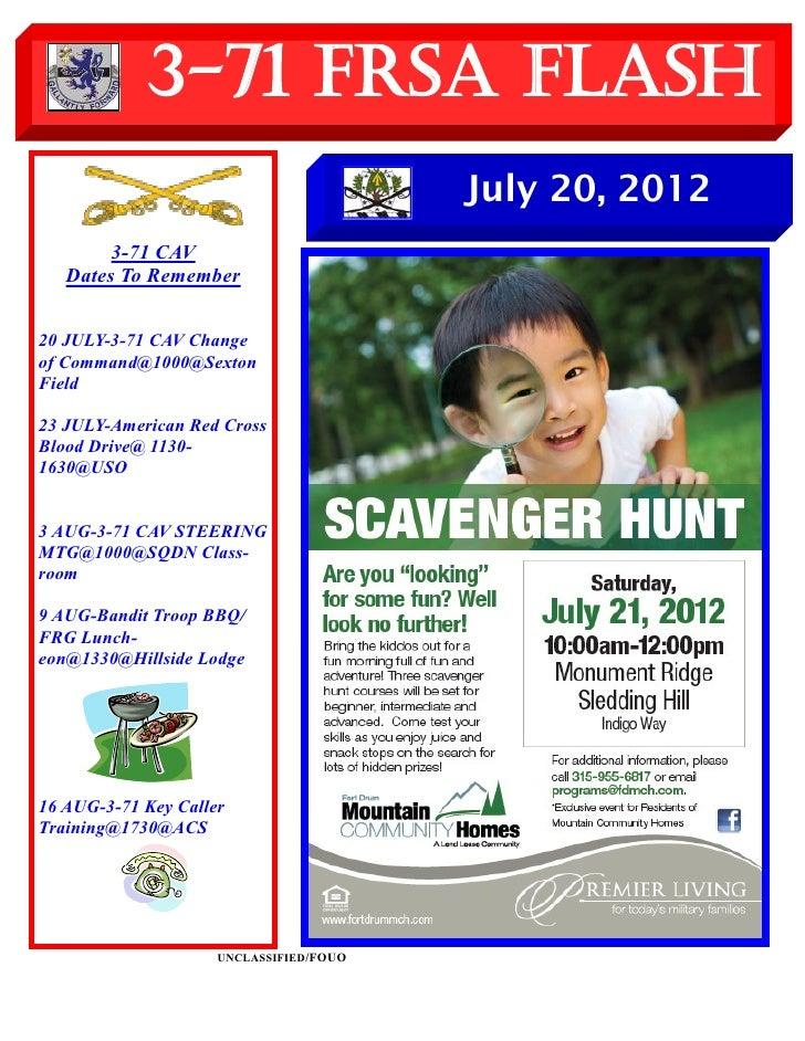 3-71 FRSA Flash                                         July 20, 2012        3-71 CAV   Dates To Remember20 JULY-3-71 CAV ...